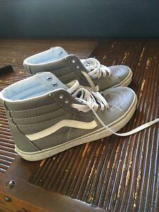 Size 8.5 Grey Canvas Vans Hi-tops