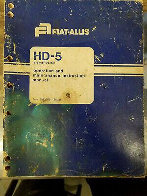 Allis Chalmers Hd5 Dozer Service Manual Operators Manual And Parts Manual