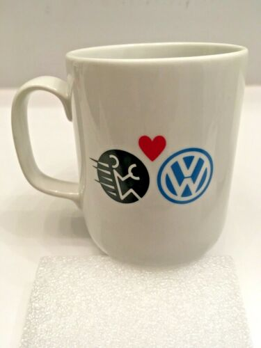 Vintage 1990 USA Today Newspaper & Volkswagen Coffee Mug w/ Fahrvergnügen Logo