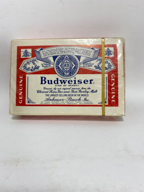 Vintage NOS Budweiser Playing Cards Deck Sealed Bridge Size