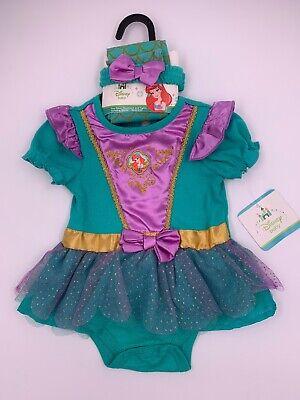 Disney Store Baby Ariel Little Mermaid Halloween Costume Dress Tights 6-12 Month