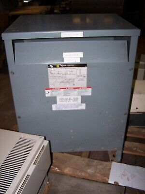 Square D 15 Kva Transformer 480 High Volt 208y120 Low Volt 3 Phase 15t3h