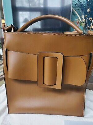 100% Authentic Boyy Devon Buckle Bucket Bag in Tan Leather