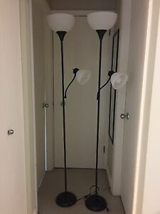 Floor lamps with reading lights (black)