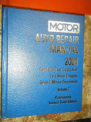 1997-2001 MOTOR ELECTRICAL AUTO SERVICE MANUAL FORD CHRYSLER GENERAL MOTORS