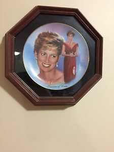 Decorative plates including princess Diana plate