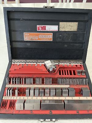 Precision Gage Block Set Pratt Whitneyhokestarrett 72 Pcs. Wcase Vintage