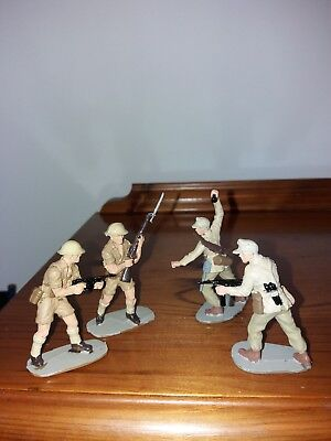 airfix 54mm WW2 Desert Soldiers fully painted British and German
