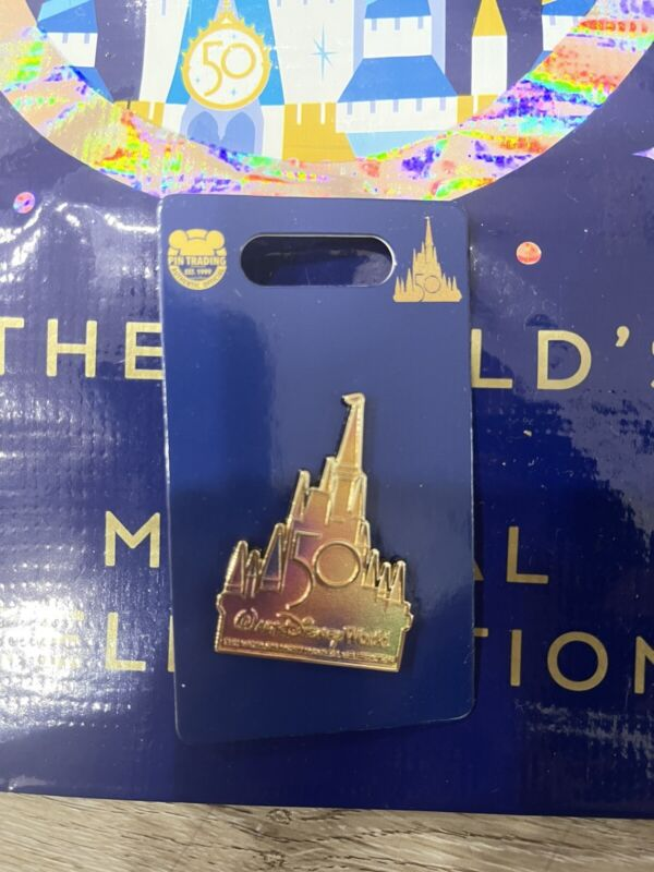 Pin 2021 Disney World 50th Anniversary Cinderella Castle