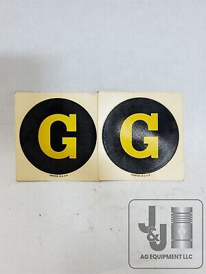 Genuine John Deere G Tractor Front Grill Screen Decal Pair F869r