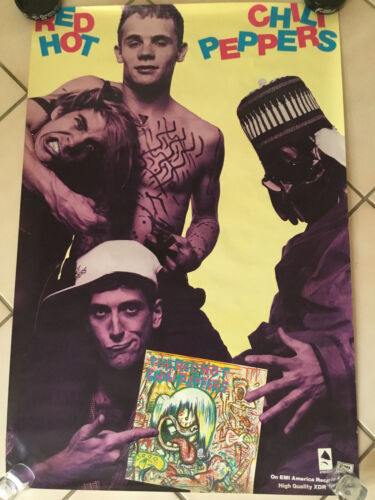 VINTAGE 1984 THE RED HOT CHILI PEPPERS SELF TITLED PROMO POSTER PROMOTIONAL