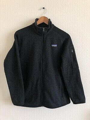Patagonia Better Sweater Men's Medium Full Zip Fleece Black Sz M