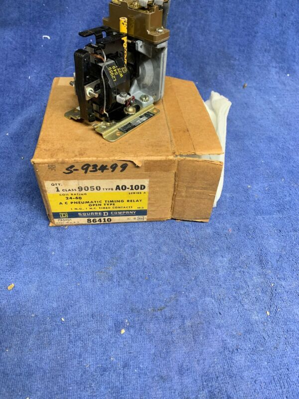 9050 A0-10D SQUARE D AC Pneumatic Timing Relay NEW