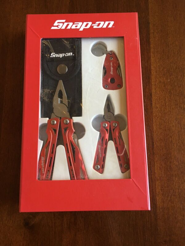 Brand New Snap-on 3 Piece Multi-Tool, Knife & Flashlight Set