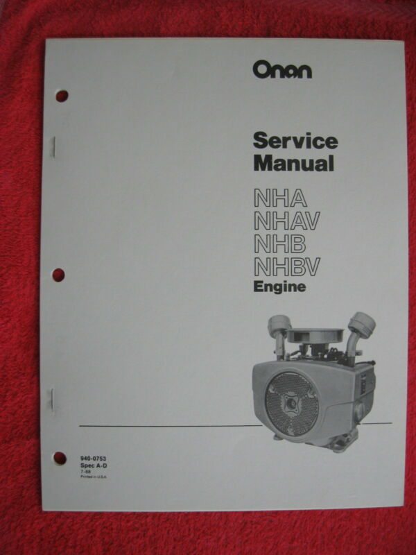 ONAN NHA, NHAV, NHB, & NHBV ENGINE SERVICE MANUAL