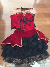 Red burlesque corset showgirl costume Joondanna Stirling Area Preview