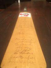 Signed Cricket Bat 86-87 Australia and England Waverton North Sydney Area Preview
