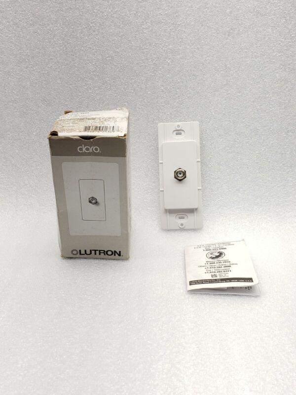 LUTRON  CA-CJ-WH CLARO CABLE TV JACK - WHITE FINISH