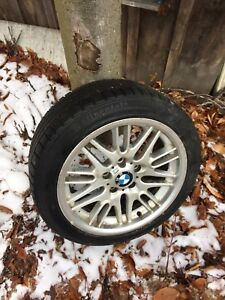 BMW M style aluminum rims with winter tires