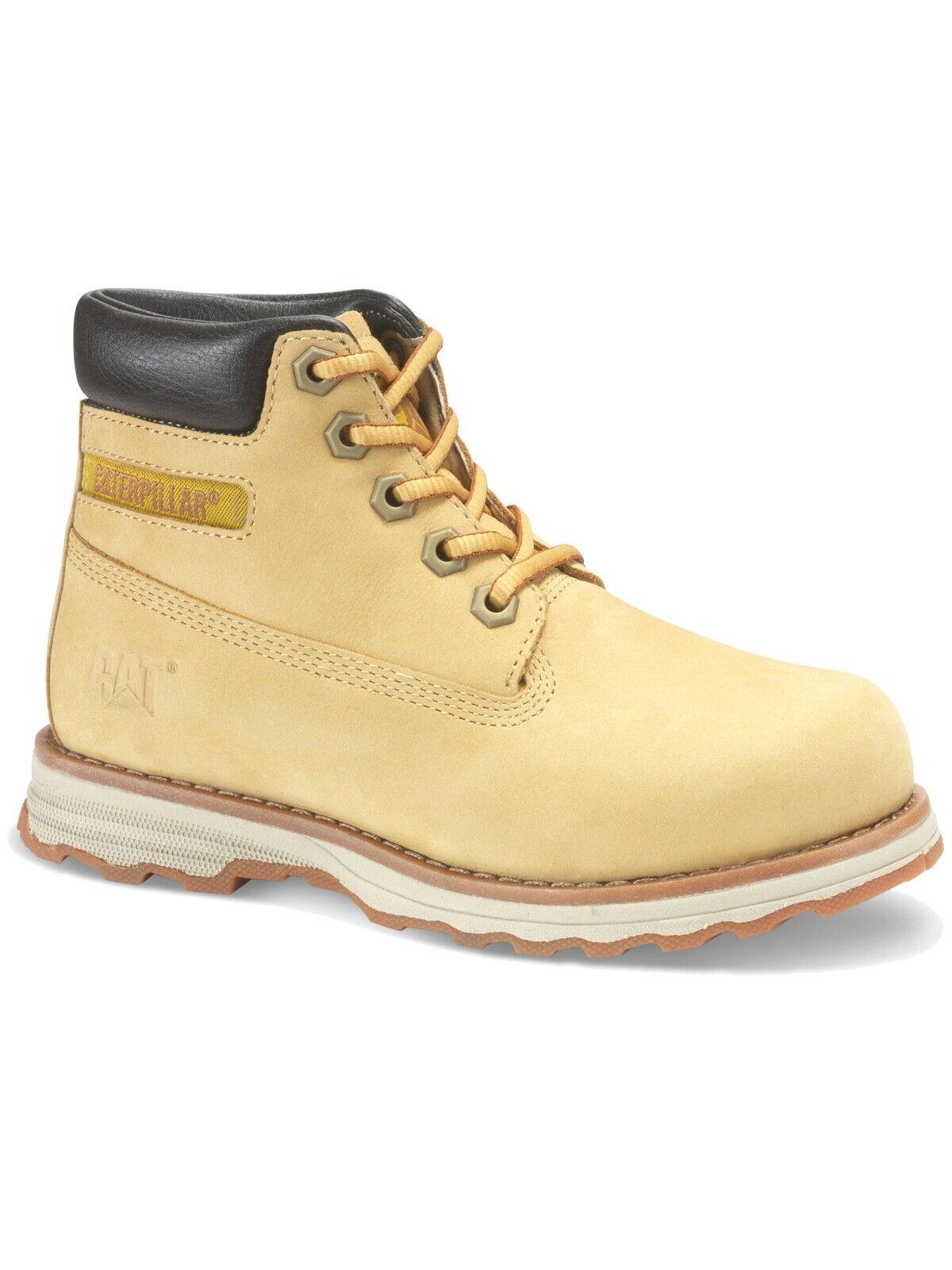 Caterpillar Kinder halbhoch schnür-Schuhe Kurzschaft Stiefel Leder Boots Outdoor