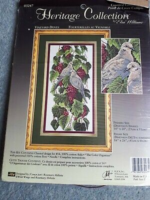 Heritage Collection Vineyard Doves Cross Stitch