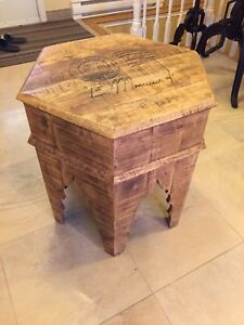 Table, wooden antique look