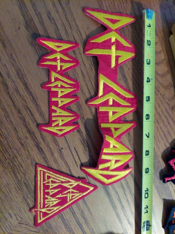 THREE PACK OF DEF LEPPARD PATCHES