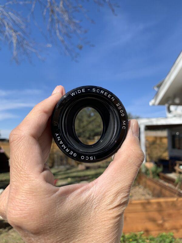 Anamorphic 1.5x Lens Isco Wide Screen 2000 MC rare