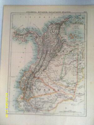 Double-sided Antique Map. COLOMBIA, ECUADOR, GALAPAGOS. / VENEZUALA & 3 GUIANAS.