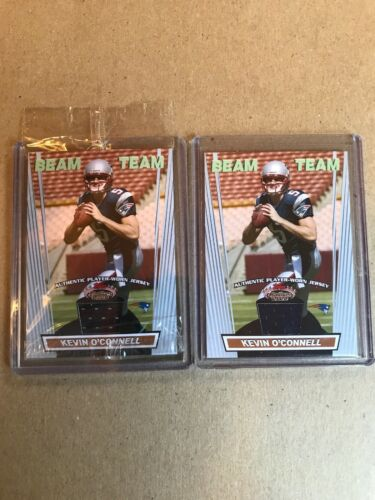 2 Kevin O Connell Beam Team Authentic Game Worn Jersey Cards. 2008 Topps - $0.99
