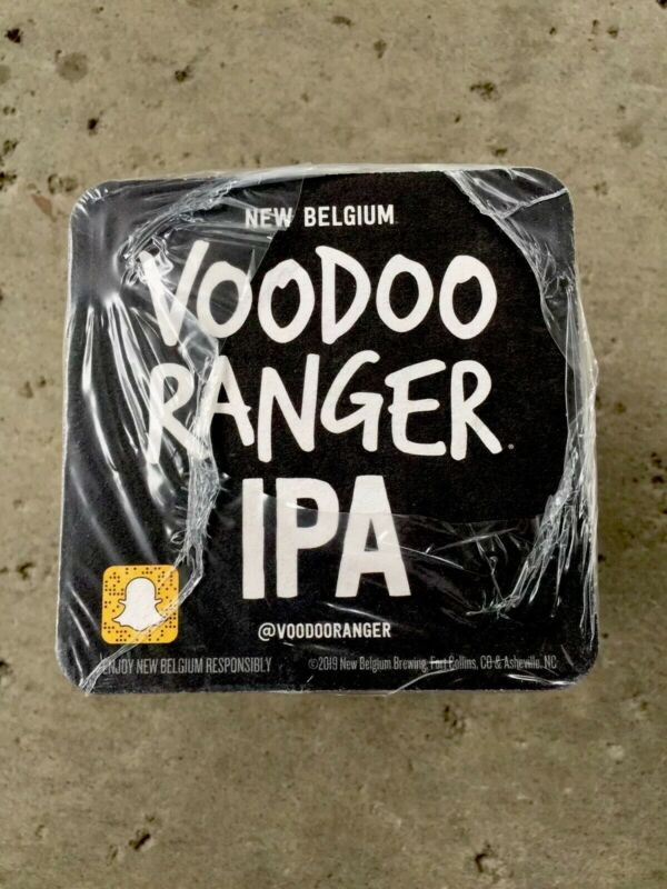 VOODOO RANGER IPA. BEER COASTERS  New Sealed Package. New Belgium.