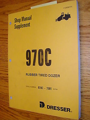 Dresser Komatsu International 970c Supp. Service Shop Repair Manual Wheel Loader