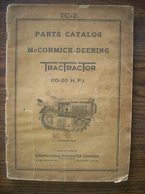 Ih Farmall Mccormick International 10-20 Tractractor Crawler Parts Manual