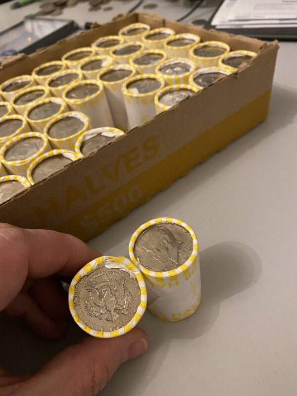 ONE (1) UNSEARCHED BANK SEALED HALF DOLLAR ROLL - POSSIBLE 90%/40% SILVER