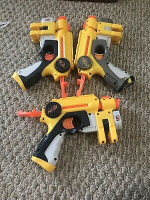 LOT of 2 - Nerf N-Strike Nite Finder EX-3 Laser Blaster Dart Guns