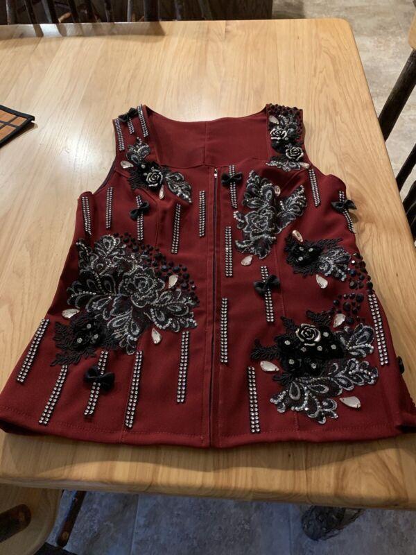 Gorgeous Western Show Vest And Matching Oversized Sundance Saddle pad