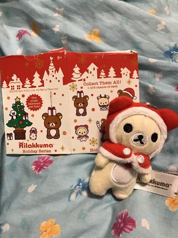 Rilakkuma Christmas Holiday Series Mini Keychain Plush