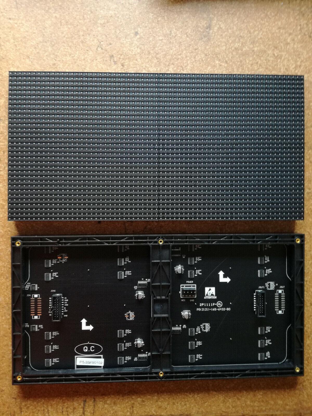 2x P4 RGB LED Matrix Panels Display Austauschmodule 64x32 pixel 256 x 128 mm