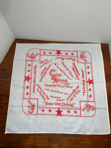 Vintage Gene Watson Concert Tour Scarf Bandana souvenir memorabilia