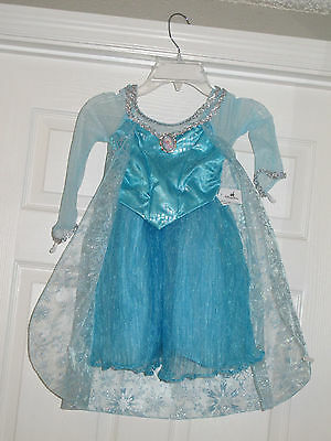 Disney Parks Elsa Kostüm (NEW Disney Parks Authentic Frozen Elsa Girls Costume Dress Size 6/6X, 7/8, 10/12)