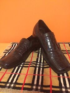 Black ROBERTO CELLINI LEATHER SHOES