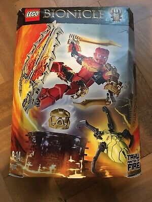 NEW//BOXED//SEALED DAMAGED BOXES LEGO BIONICLE TAHU UNITER OF FIRE 71308