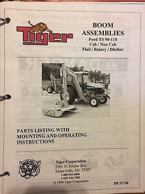 Ford Ts 90-110 Tiger Assembly Boom Arm Mower Operation Maintenance Manual Parts