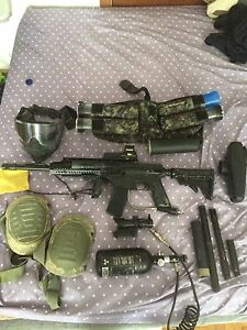 Bravo one fully modified paintball gun