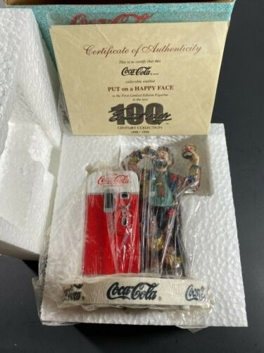 """Coca-Cola Rodeo Clown Emmett Kelly """" Put On A Happy Face """" Collection Figurine"""