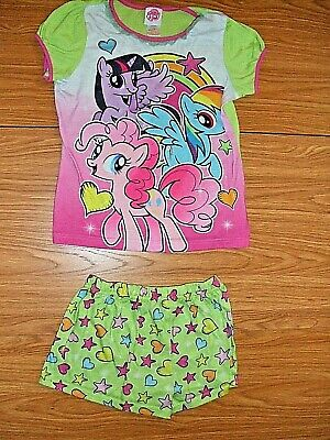 Mlp Pajamas (MY LITTLE PONY BRAND SLEEPER  SHORTY PAJAMAS 2 PC.  SIZE L/G YOUTH)