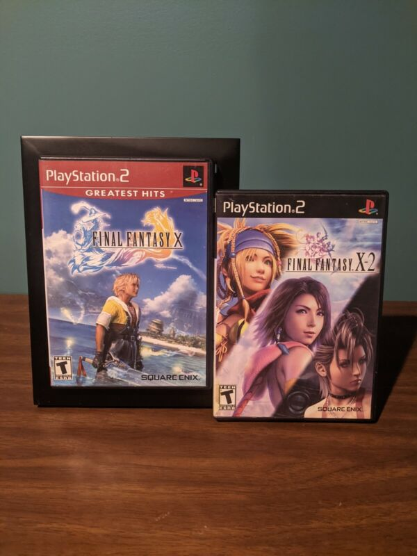 Final Fantasy X and X-2 PlayStation 2, Lot of 2, Tested & Working!!!!