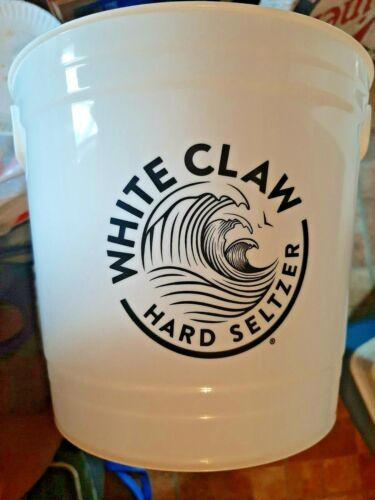 white claw hard seltzer plastic bucket 2 pack...free shipping