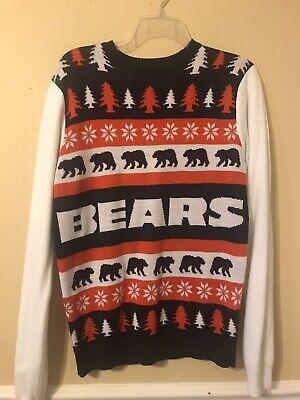 NFL Chicago Bears Logo Unisex Ugly Christmas Sweater Size Medium ()