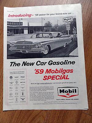 1959 Mobil Mobilgas Special Ad 1959 Buick Invicta 4 Door Hardtop